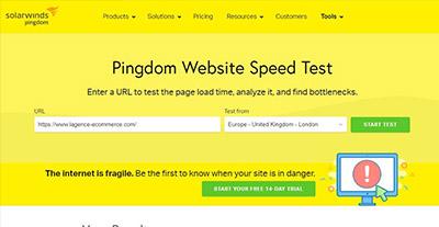 Pingdom tools l'outil qui test la vitesse de votre site web | L'Agence E-commerce